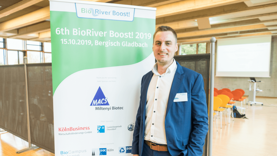 CFO of PL BioScience Christian Wilkes at RiverBoost! 2019
