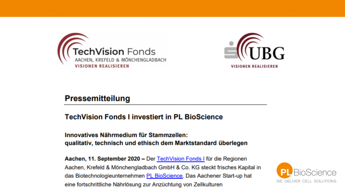 Tech Vision Fonds invests in PL BioScience