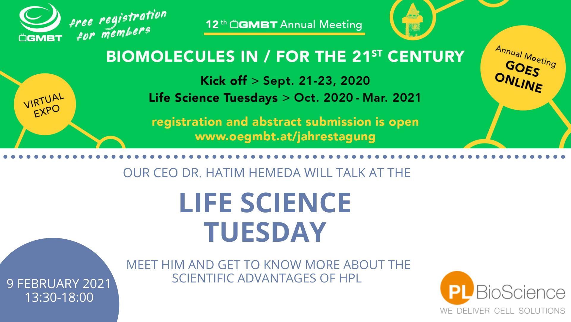 ÖGMBT Life Science Tuesday - HPL in regenerative medicine